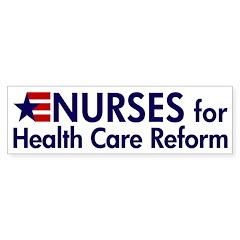 Nurses for Healthcare Reform bumper sticker