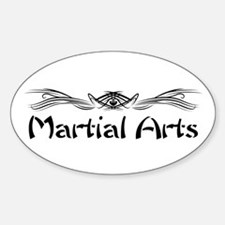 Martial Arts Oval Sticker (10 pk)