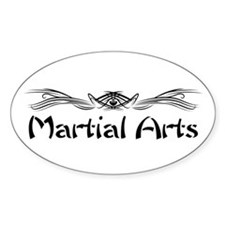 Martial Arts Oval Decal