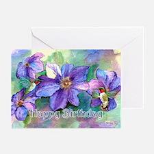 Hummingbird Birthday Greeting Cards (Pk of 10)