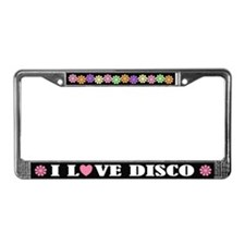 I Love Disco License Plate Frame