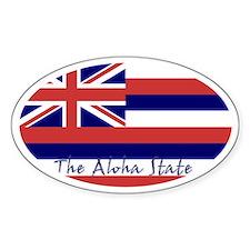 Hawaii Flag Decal Oval Decal
