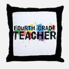 Fourth Grade Teacher Throw Pillow