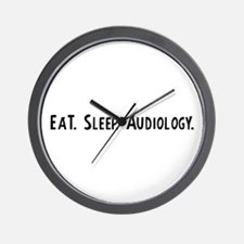 Eat, Sleep, Audiology Wall Clock