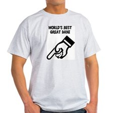 World's Best Great Dane Ash Grey T-Shirt