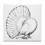 Fantail Pigeon Tile Coaster