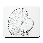 Fantail Pigeon Mousepad