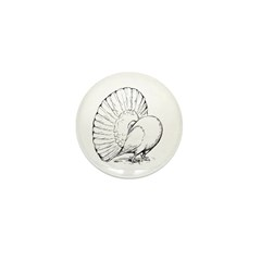 Fantail Pigeon Mini Button (10 pack)