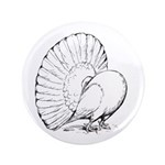 "Fantail Pigeon 3.5"" Button (100 pack)"