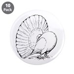 "Fantail Pigeon 3.5"" Button (10 pack)"