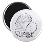 "Fantail Pigeon 2.25"" Magnet (100 pack)"