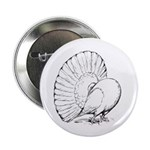 "Fantail Pigeon 2.25"" Button (100 pack)"