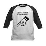 World's Best Gordon Setter Kids Baseball Jersey