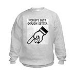 World's Best Gordon Setter Kids Sweatshirt
