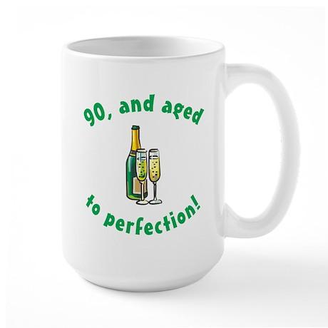 90, Aged To Perfection Large Mug