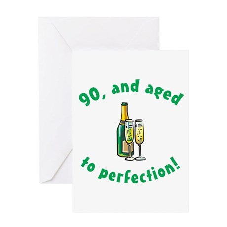 90, Aged To Perfection Greeting Card