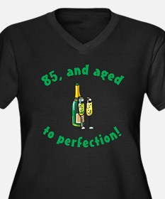 85, Aged To Perfection Women's Plus Size V-Neck Da