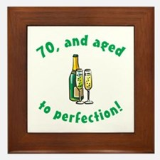 70, Aged To Perfection Framed Tile