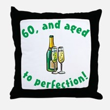 60, Aged To Perfection Throw Pillow