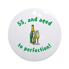 55, Aged To Perfection Ornament (Round)