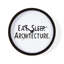 Eat, Sleep, Architecture Wall Clock
