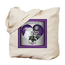 Wedding Skulls Tote Bag