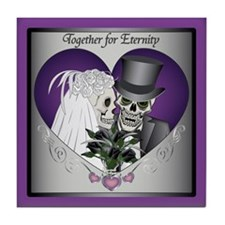 Wedding Skulls Tile Coaster
