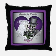 Wedding Skulls Throw Pillow