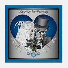Wedding Skulls Tile Coaster