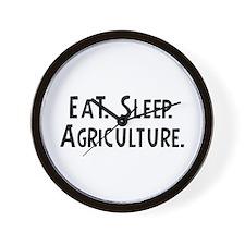 Eat, Sleep, Agriculture Wall Clock