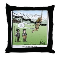 Tarzan of the Alps Throw Pillow