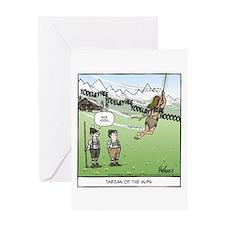 Tarzan of the Alps Greeting Card