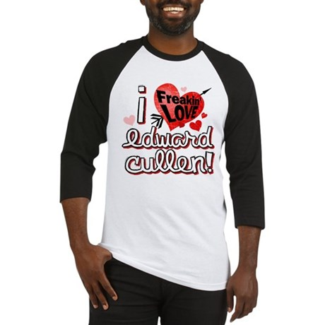 I LOVE Edward Cullen Baseball Jersey