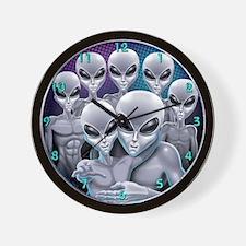 Happy alien Family Wall Clock