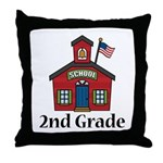 2nd Grade School Throw Pillow