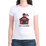 1st Grade School Jr. Ringer T-Shirt