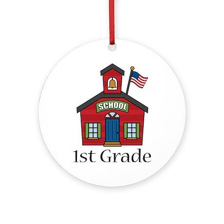 1st Grade School Ornament (Round)