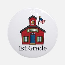 1st Grade School Ornament (Round)