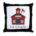 1st Grade School Throw Pillow