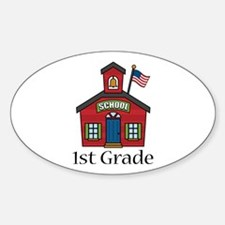 1st Grade School Oval Decal