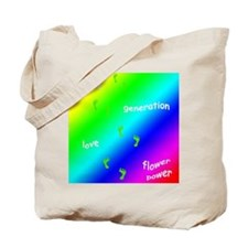 Retro 60's Tie-Dye Tote Bag