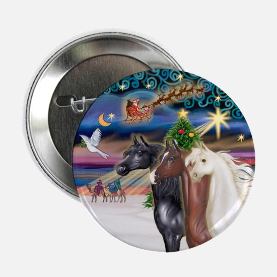 "XmsMagic/3 Horses (Ar) 2.25"" Button"