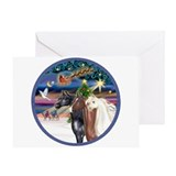 Arabian horse christmas Greeting Cards