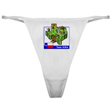 Texas Map Classic Thong