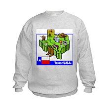 Texas Map Sweatshirt
