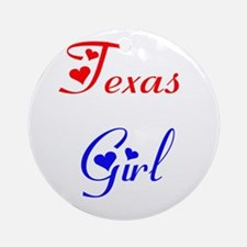Texas Girl Ornament (Round)