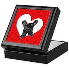 Black Frenchie Lover Keepsake Box