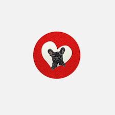 Black Frenchie Lover Mini Button