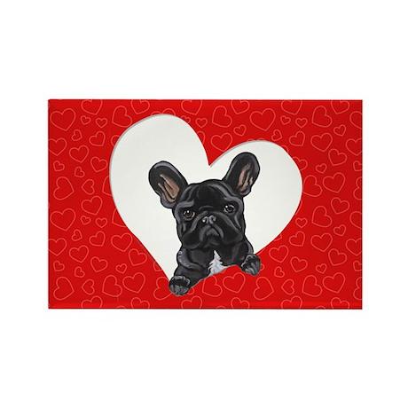 Black Frenchie Lover Rectangle Magnet (10 pack)