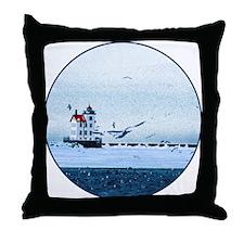 The Lorain, Ohio Lighthouse Throw Pillow